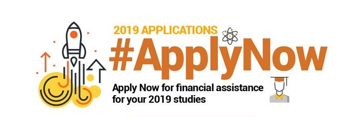 NSFAS bursary applications. CLOSED for 2019